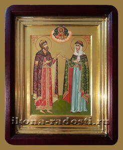 Храмовая икона святых Петра и Февронии Муромских