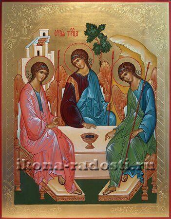рукописная икона в наличии Святая Троица купить