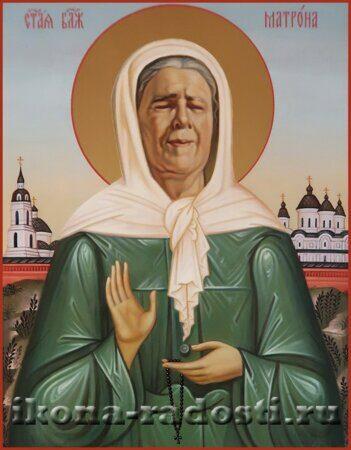 заказать икону святая блаженная Матронушка