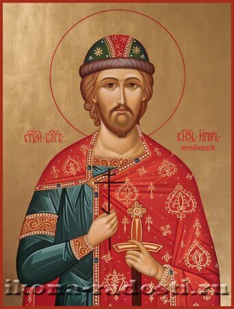 заказать икону святой князь Игорь Черниговский