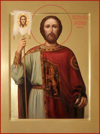 заказать икону святой Александр Невский
