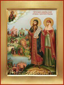 Святые Петр и Феврония с житием