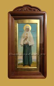заказать мерную икону святая княгиня Елисавета в киоте