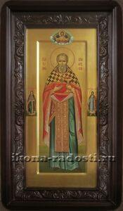 Икона святой Иоанн Кронштадский в киоте