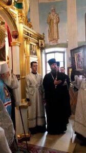 Дарение иконы Святителя Спиридона Владыке Ювеналию
